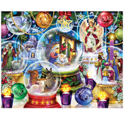 Vermont Christmas Company Vermont Christmas Co. Nativity Snow Globes Puzzle 1000pcs