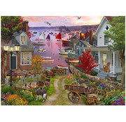 Vermont Christmas Company Vermont Christmas Co. Evening in the Harbour Puzzle 1000pcs