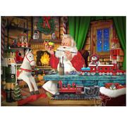 Vermont Christmas Company Vermont Christmas Co. Santa's Toyworks Puzzle 1000pcs