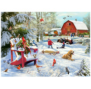 Vermont Christmas Company Vermont Christmas Co. The Farm at Christmas Puzzle 1000pcs