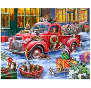 Vermont Christmas Company Vermont Christmas Co. It's a Cats' Christmas Puzzle 1000pcs