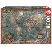 Educa Borras Educa Historical World Map Puzzle 8000pcs
