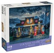 Mchezo Mchezo Country Store at Night Puzzle 1000pcs