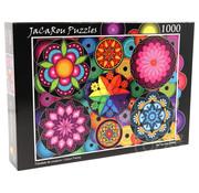JaCaRou Puzzles JaCaRou Colour Frenzy - Frénésie de Couleurs Puzzle 1000pcs