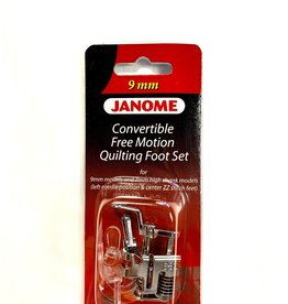 Janome 9 mm Convertible Free Motion Quilting Foot Set