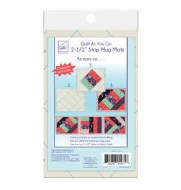 "Quilt as you go 2-1/2"" Strip Mug Mats"