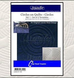 Circles on Quilts High Shank Set of 2