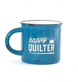 Happy Quilter Mug BLUE