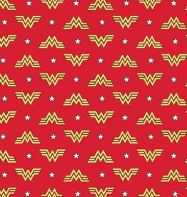 Red WonderWoman 84 Logo and Stars Flannel