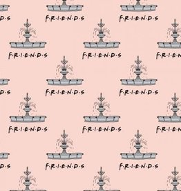 Peach Friends Fountain Flannel