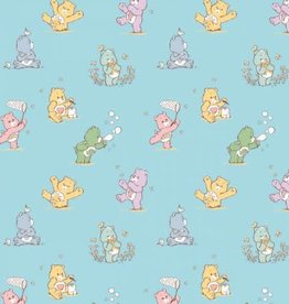 Blue Playful Care Bear Flannel