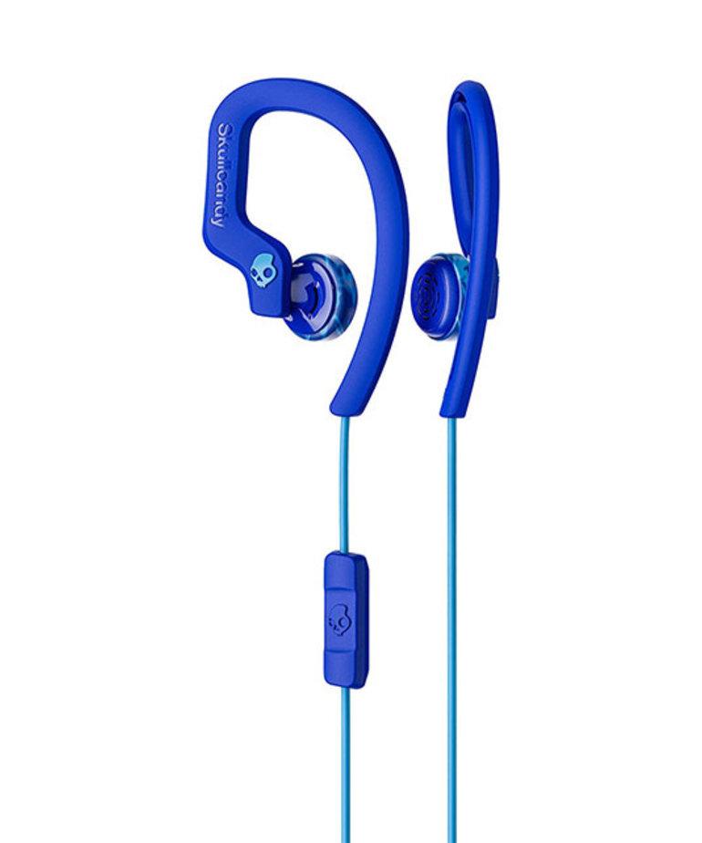 SKULLCANDY SKULLCANDY CHOPS FLEX EAR HOOK HEADPHONES ROYAL BLUE/BLUE/SWIRL