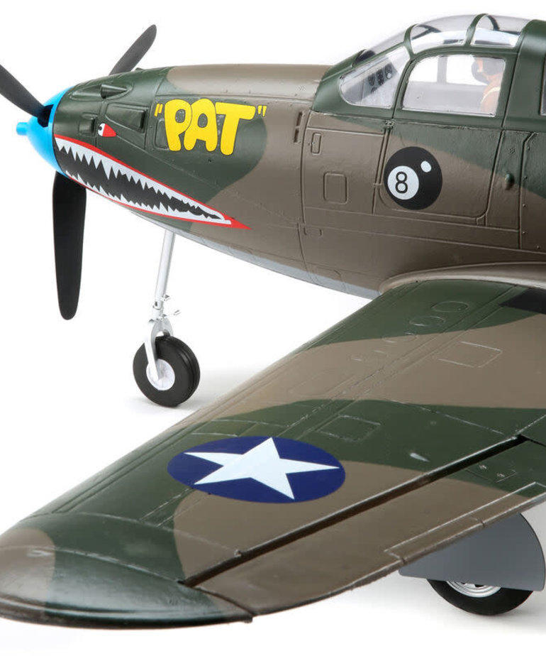 E-FLITE P-39 AIRACOBRA 1.2M BNF BASIC WITH AS3X AND SAFE SELECT