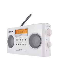 SANGEAN WHITE  DIGITAL PORT RECEIVR RADIO