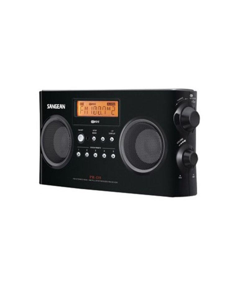 SANGEAN DIGITAL STEREO RECEIVER W/ AM/FM RADIO (BLACK)