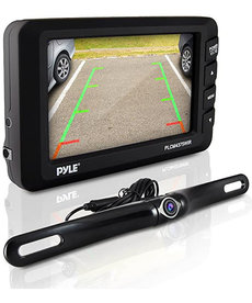 """PYLE 4.3"""" LCD MONITOR & WIRELESS BACKUP CAMERA WITH PARKING/REVERSE ASSIST SYSTEM"""