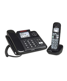CLARITY AMPLIFIED CORDED/CORDLESS PHONE SYSTEM WITH DIGITAL ANSWERING SYSTEM