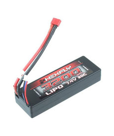 Hexfly 7.4V 3200 mAh LIpo battery with Deans connector