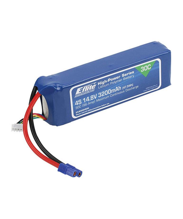 E-FLITE 3200MAH 4S 14.8V 30C LIPO