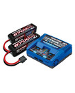 TRAXXAS Battery/charger completer pack (includes #2973 Dual iD charger (1), #2890X 6700mAh 14.8V 4-cell 25C LiPo battery (2)) -