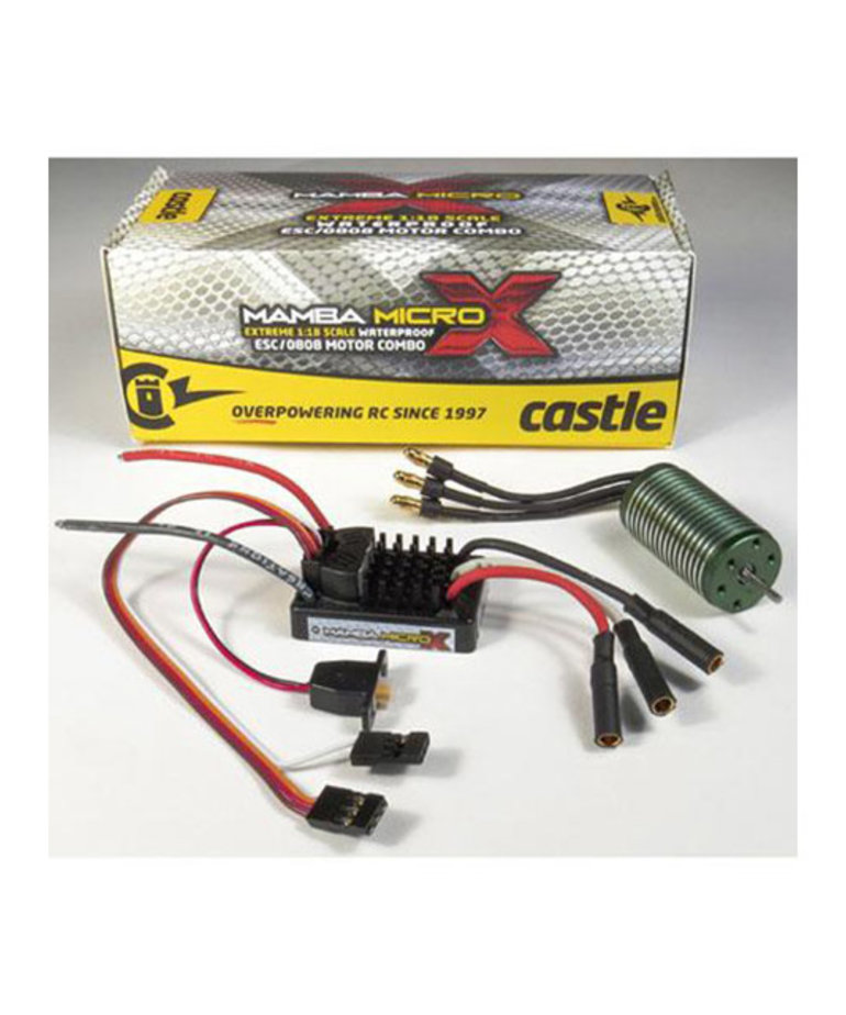 CASTLE CREATIONS Castle Creations Mamba Micro X 1/18th Scale Brushless Combo (5300KV)