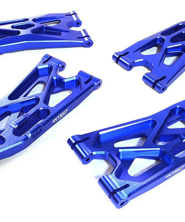 BILLET MACHINED LOWER SUSPENSION ARMS (4) FOR TRAXXAS X-MAXX 4X4 C27195BLUE