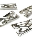 BILLET MACHINED LOWER SUSPENSION ARMS (4) FOR TRAXXAS X-MAXX 4X4 C27195SILVER