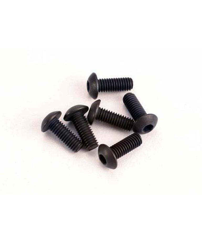 TRAXXAS Screws, 3x8mm button-head machine (hex drive) (6)