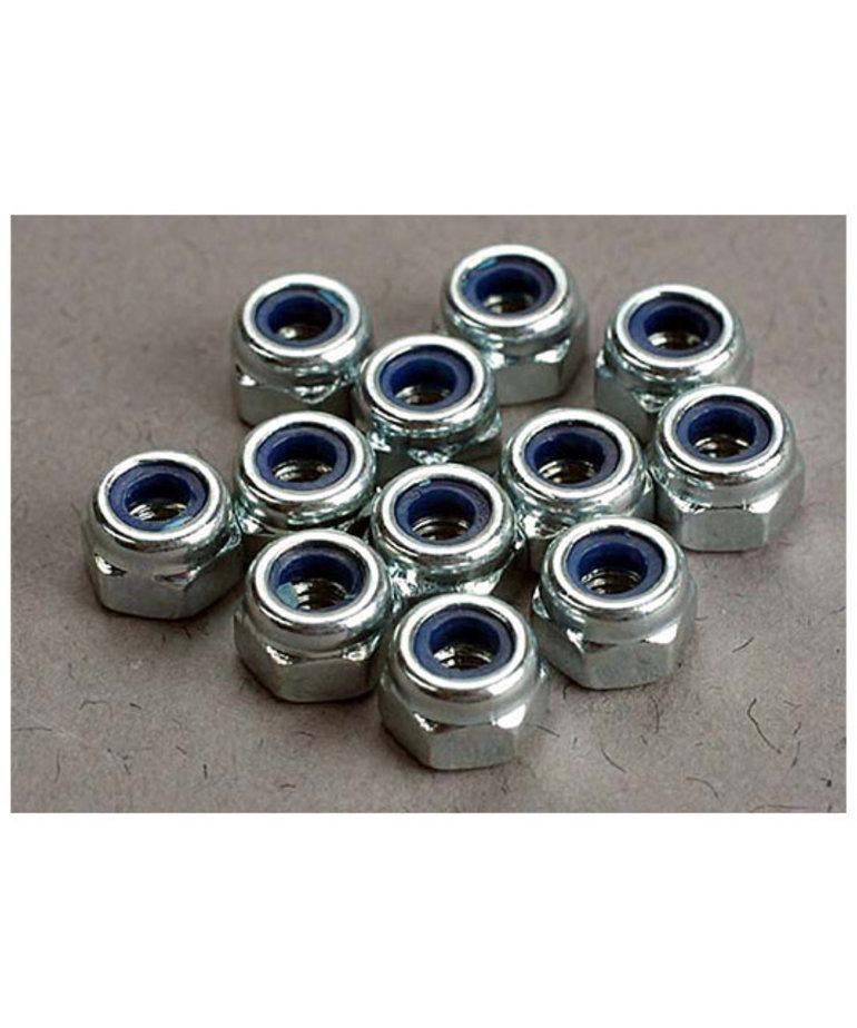TRAXXAS Nuts, 3mm nylon locking (12)