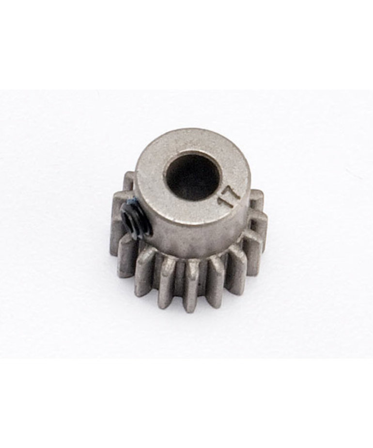 TRAXXAS Gear, 17-T pinion (0.8 metric pitch, compatible with 32-pitch) (fits 5mm shaft)/ set screw