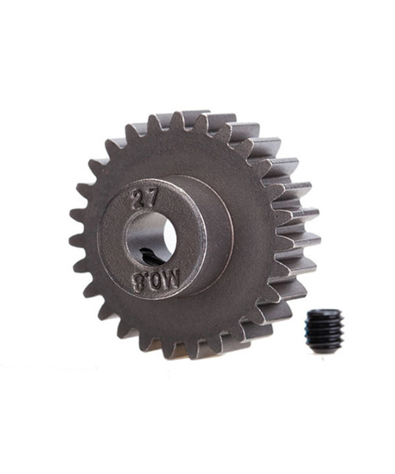 TRAXXAS GEAR, 27-T PINION (0.8 METRIC PITCH, COMPATIBLE WITH 32-PITCH) (FITS 5MM SHAFT