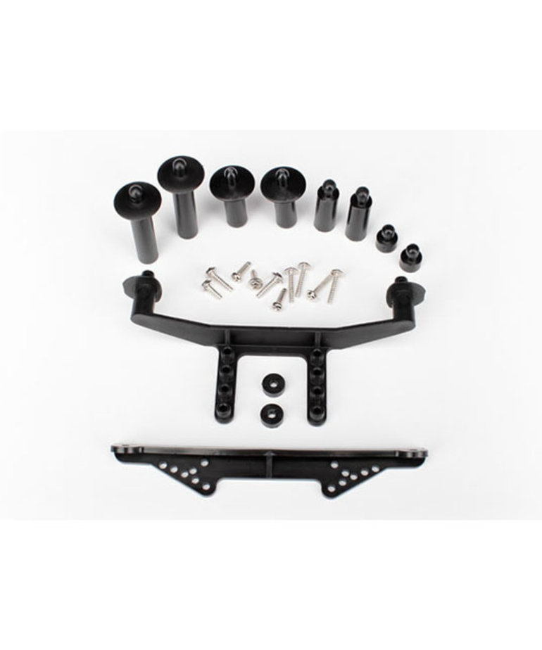 TRAXXAS BODY MOUNT FRONT AND REAR BLACK