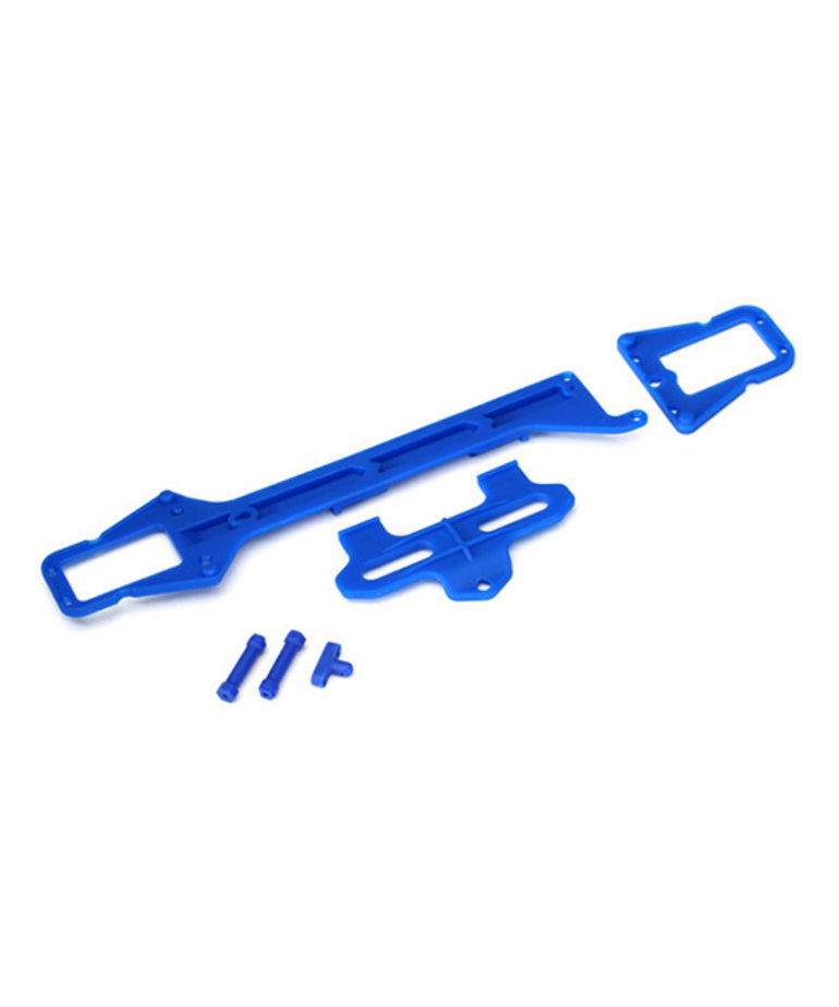 TRAXXAS UPPER CHASSIS (LONG)/ BATTERY HOLD DOWN