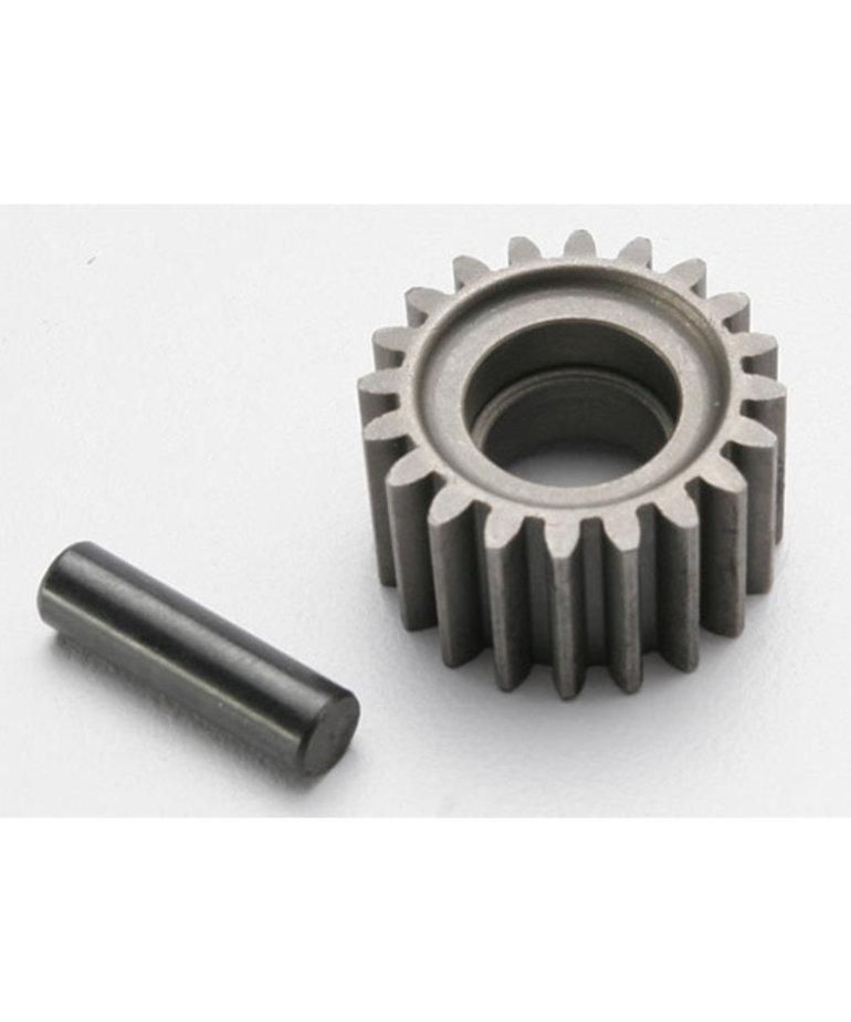 TRAXXAS Idler gear, 20-tooth/ idler gear shaft