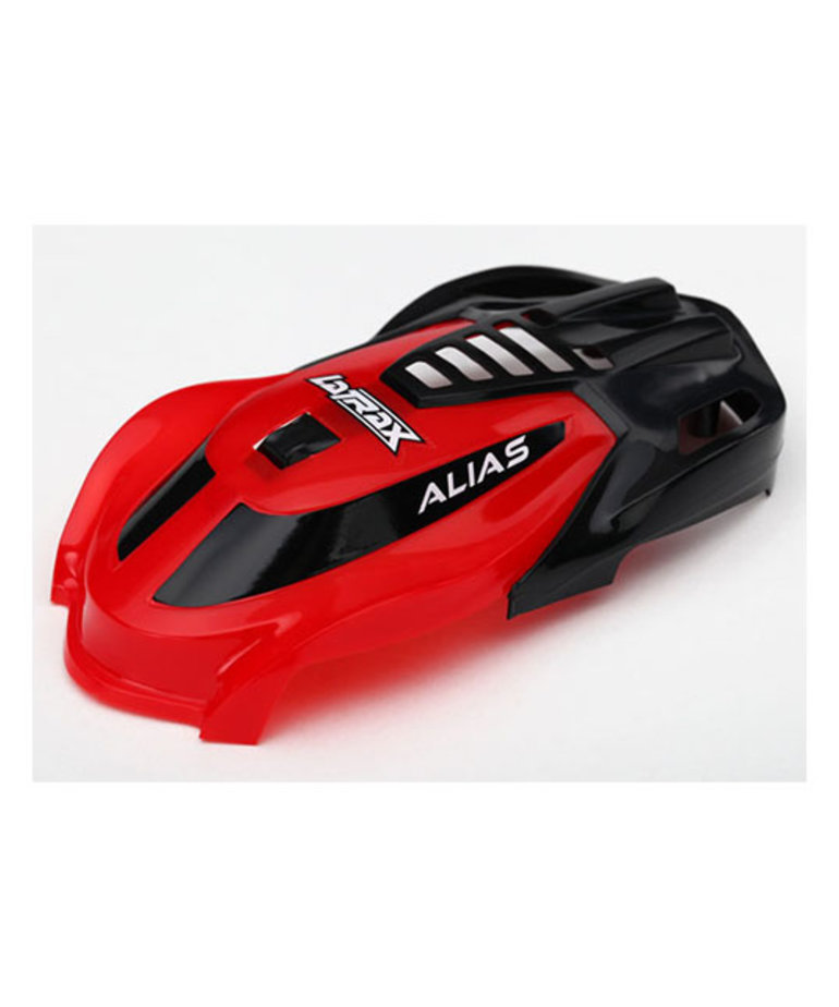 TRAXXAS CANOPY, ALIAS®, RED/ 1.6X5MM BCS (SELF-TAPPING) (3)
