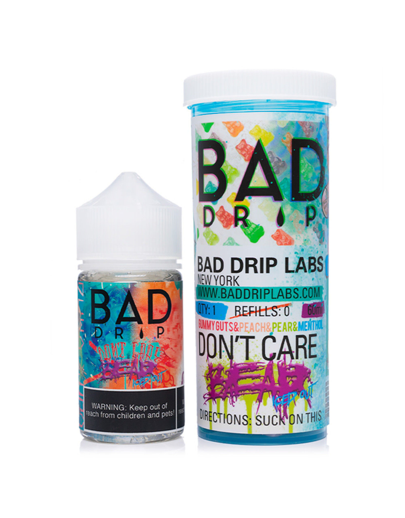 Bad Drip Juice Co. Bad Drip Juice Co. Don't Care Bear Ice'd Out 60 ML 6 MG
