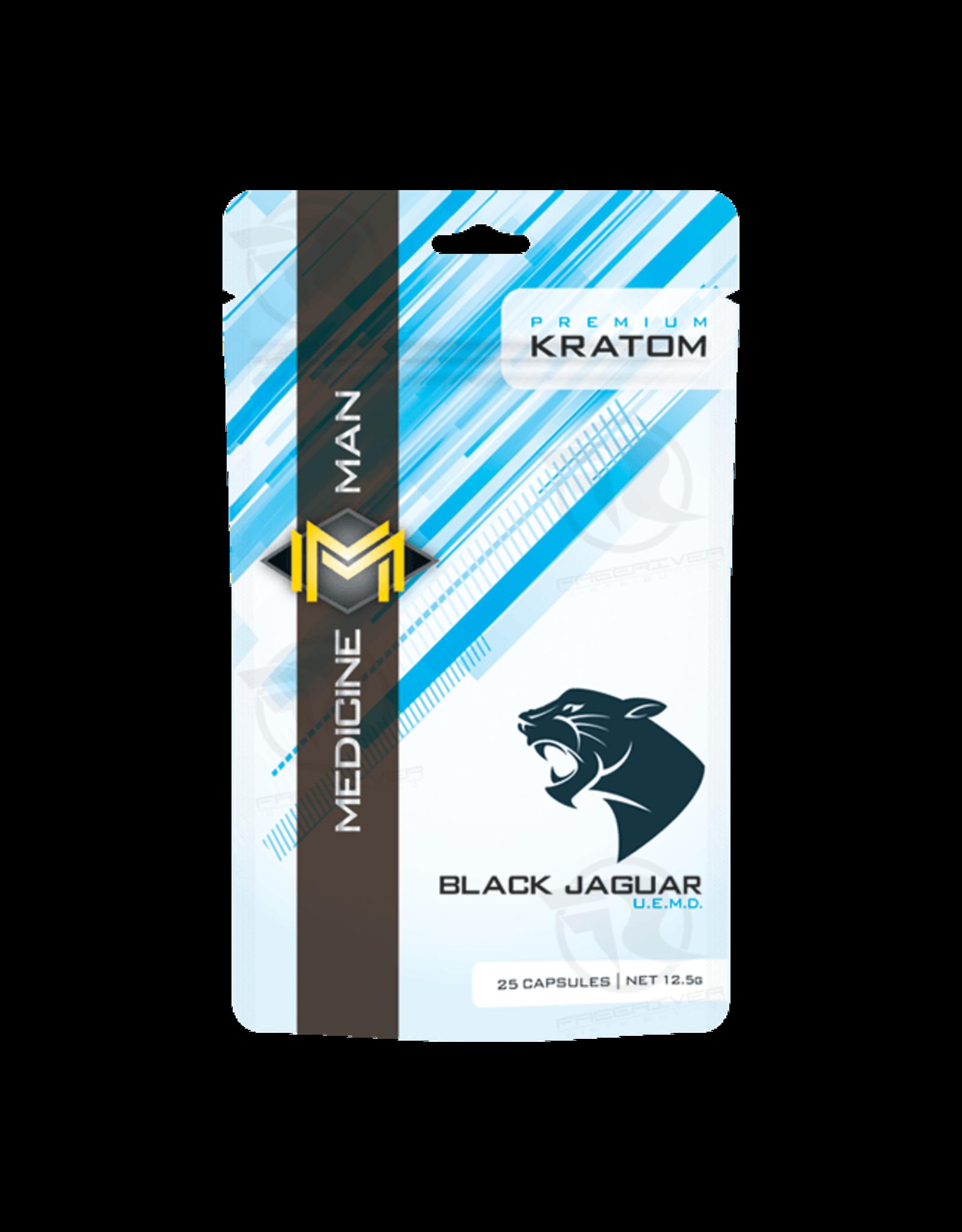 Medicine Man Kratom Black Jaguar 25 Caps 12pk