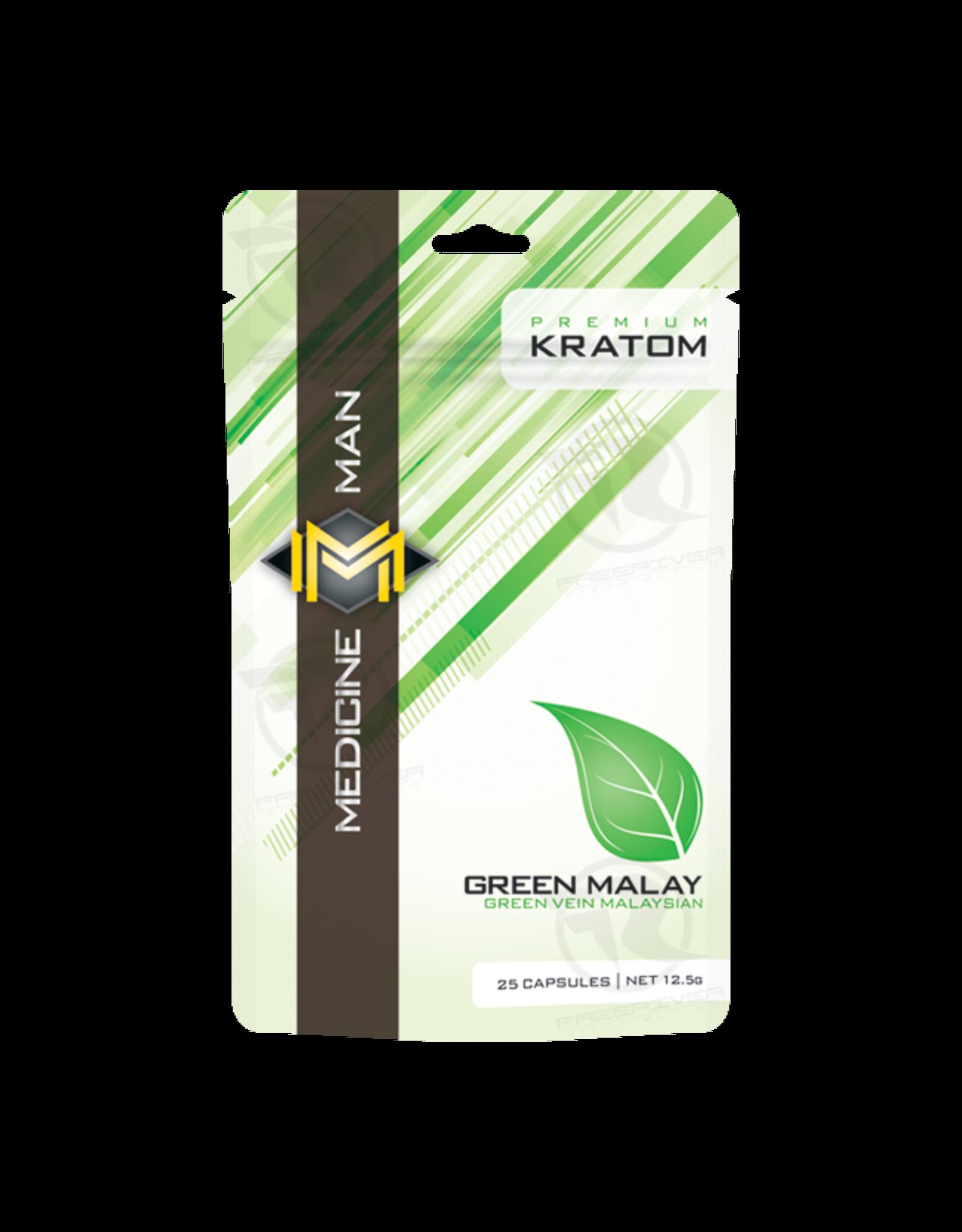 Medicine Man Kratom Green Malay 25 Caps 12pk