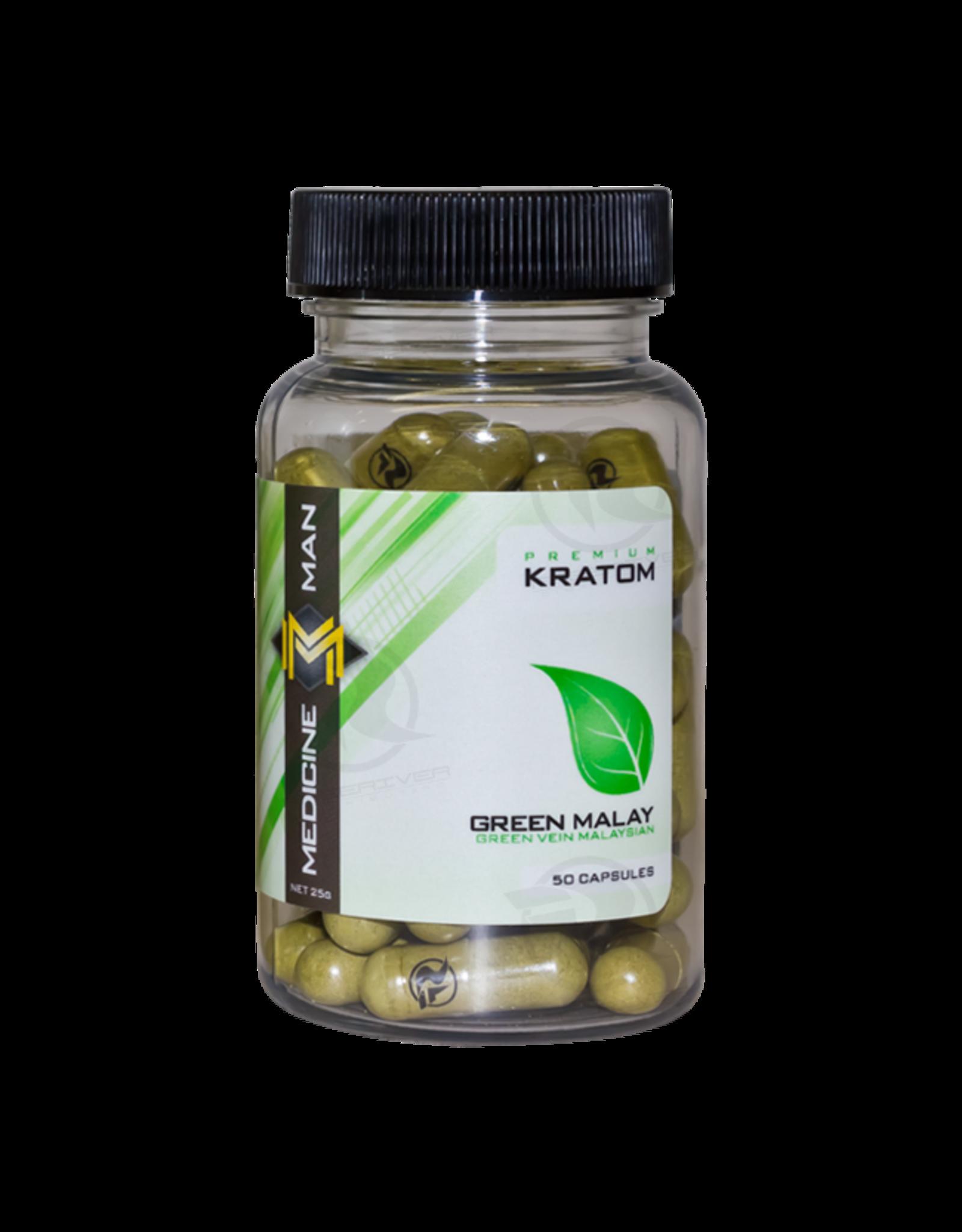 Medicine Man Kratom Green Malay 50 Caps