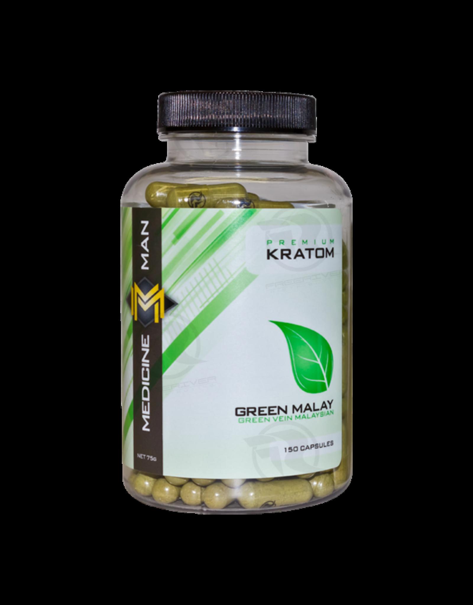 Medicine Man Kratom Green Malay 150 Caps 6pk
