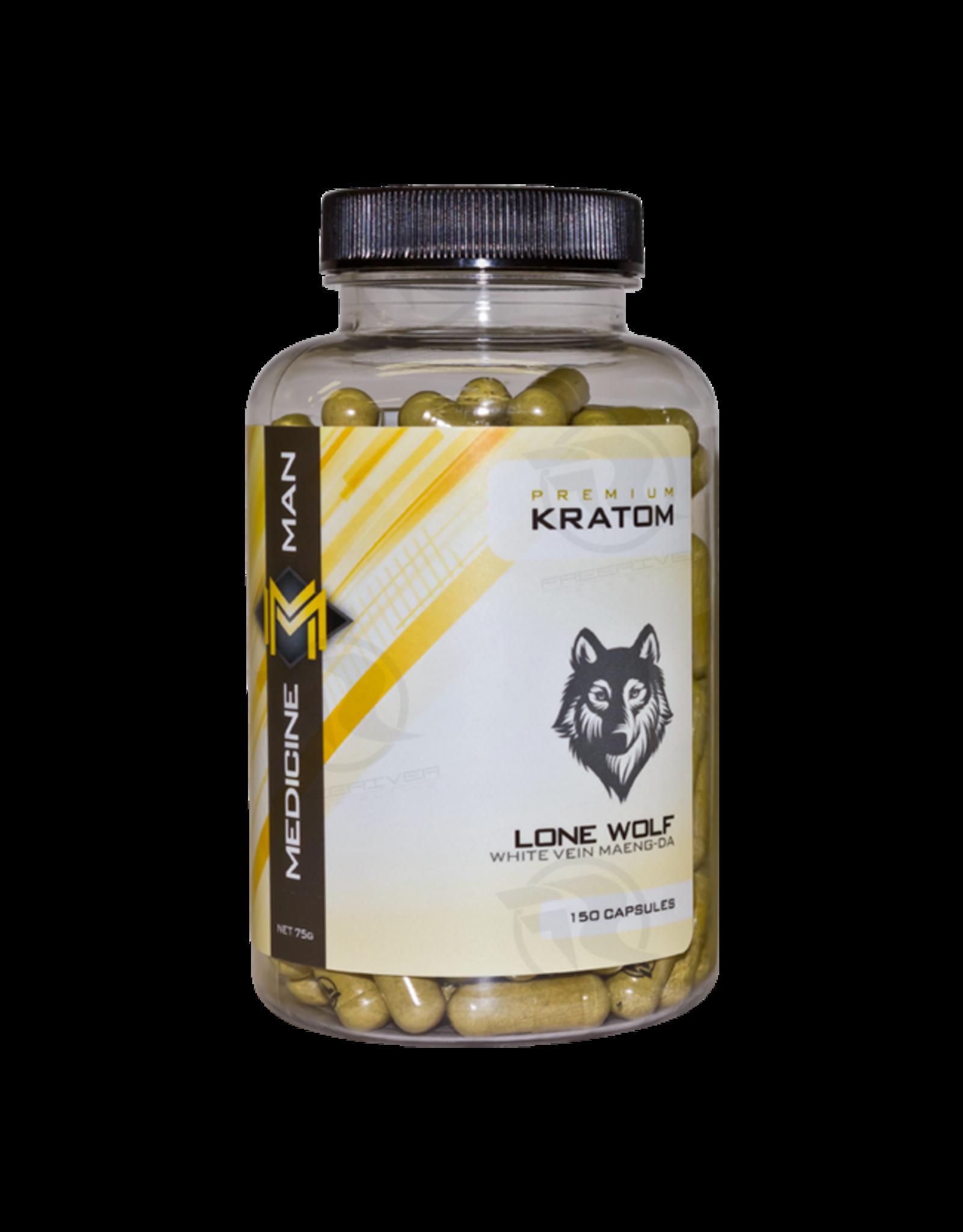 Medicine Man Kratom Lone Wolf 150 Caps 6pk