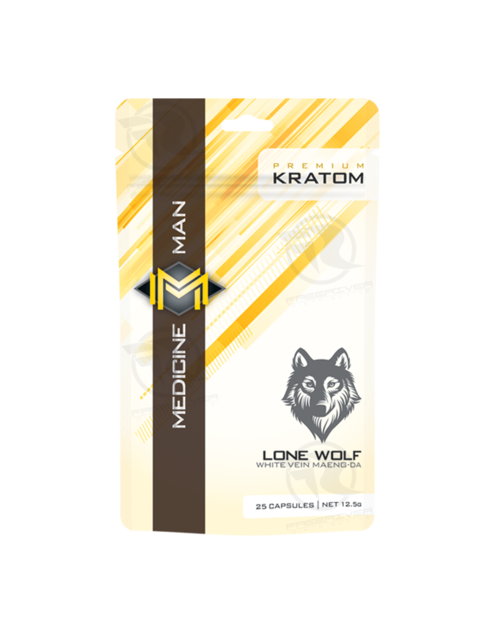 Medicine Man Kratom Lone Wolf 25 Caps 12pk