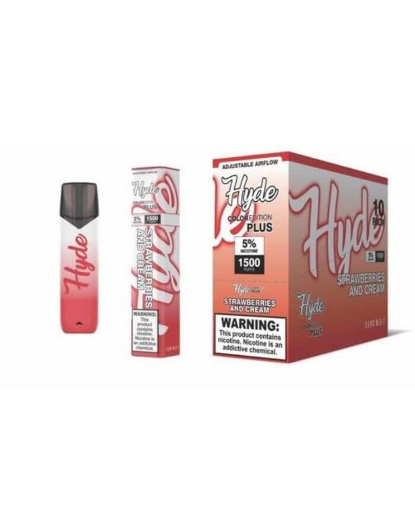 Hyde Hyde Color Plus Strawberries & Cream 1500puff
