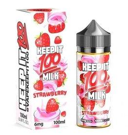 Keep it 100 Keep It 100 Berry Au Lait/Strawberry Milk 100ml 0mg