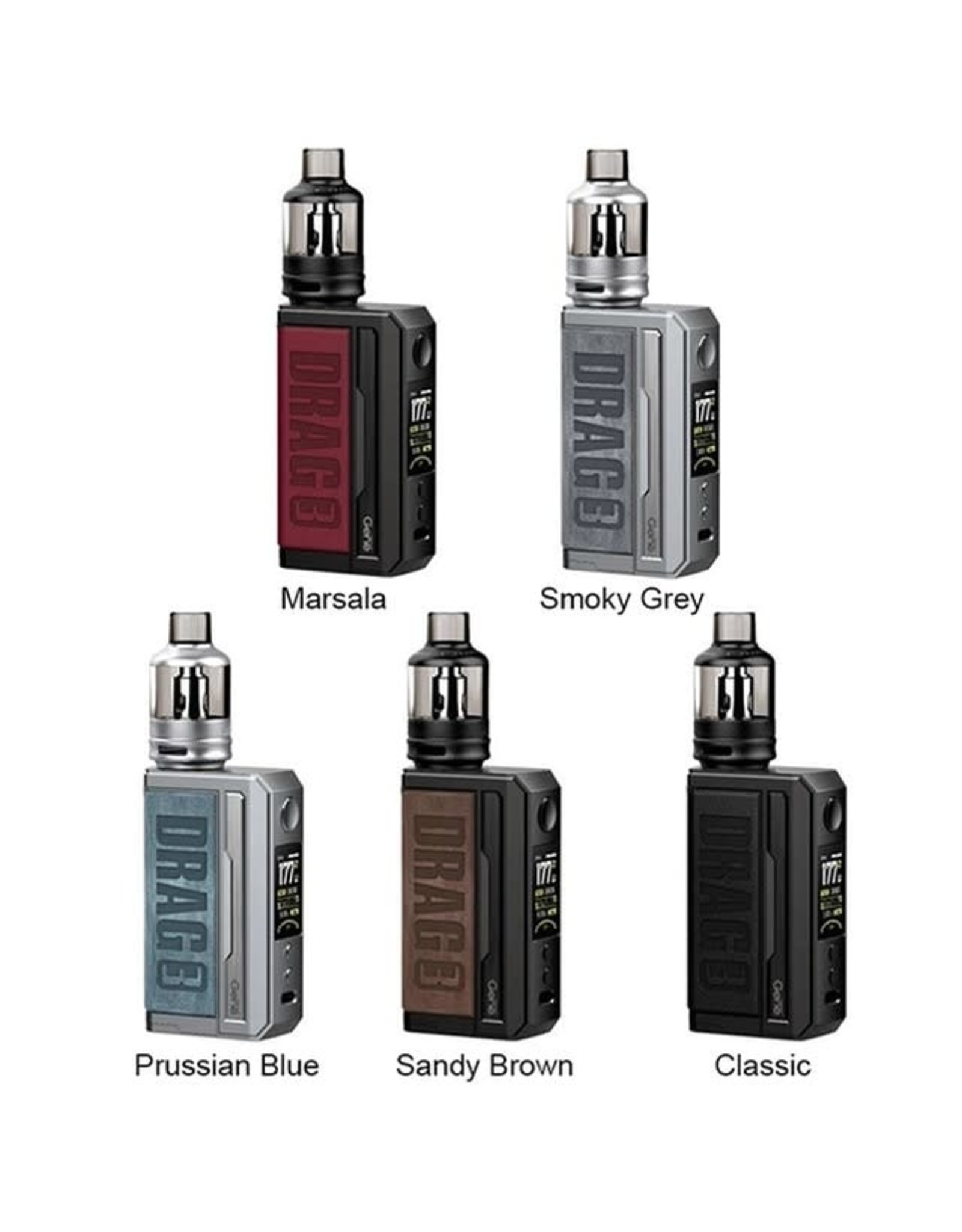 Voopoo Drag 3 177w Box Kit TPP Tank - Marsala