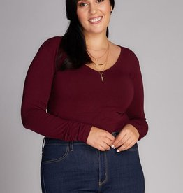 Bamboo Plus Size V Neck Top