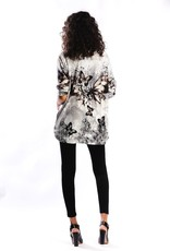 Embellished Butterflies Print Tunic Top