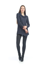 Striped Angle Hemmed Sweater