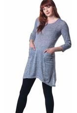 Papa Fashions Small Heathered Grey Tunic Dress