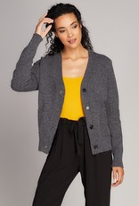 Small Button Crop Cardigan